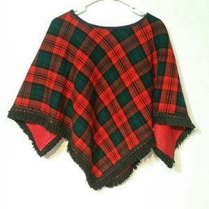 VINTAGE poncho, handmade one size
